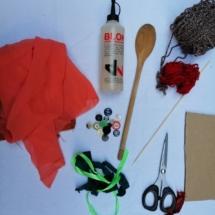 1. burattino cucchiaio materiali